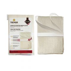 Canvas Drop Cloth 4' x 12' with Securing Strap