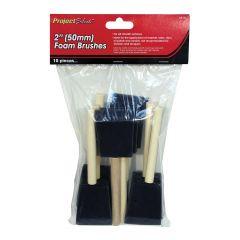 10 Piece 50mm Foam Brushes