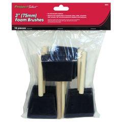 10 Piece 75mm Foam Brushes