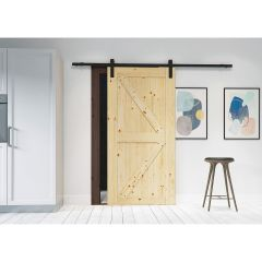 "33"" x 1"" x 84"" Artisan Sliding Door and Hardware Kit"
