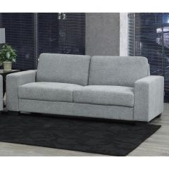 Grey Sofa With 100% Polyester Fabric Upholstery