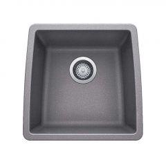 Performa U Bar Metallic Gray Undermount Kitchen Sink