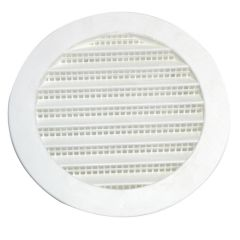 "5"" Plastic Round Mini Louvers White"