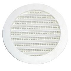 "6"" Plastic Round Mini Louvers White"