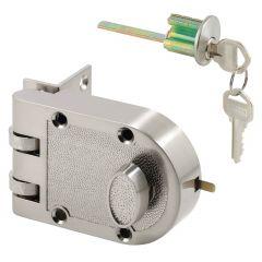 Deadlock, Jimmy-Resistant, Single Cylinder, Satin Nickel