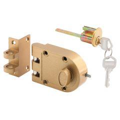 Deadlock, Jimmy-Resistant, Single Cylinder, Brass Finish