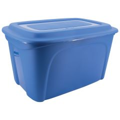 122 L Blue Tote with Dom Lid