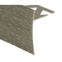 "5/16"" x 6' Hammered Satin Titanium Finish Tile Nosing"