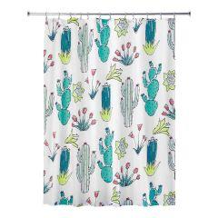 """72"""" x 72"""" Cactus Fabric Shower Curtain"""