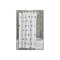 """72"""" X 72"""" Scattered Dots Fabric Shower Curtain"""