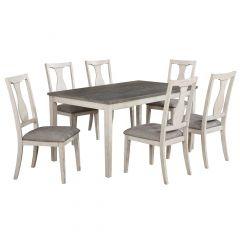 Karwell 7 Piece Dining Set Antique White/Grey