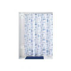 "72"" x 72"" Sailboat Fabric Shower Curtain"