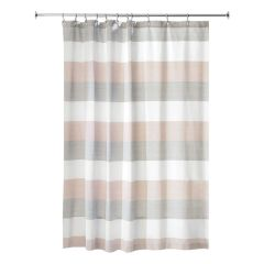 "72"" x 72"" Wide Multi Striped Fabric Shower Curtain"