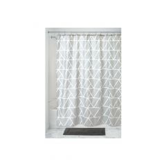 """70"""" x 72"""" Connected Triangle Fabric Shower Cutain"""