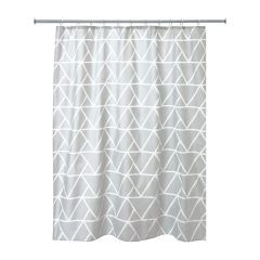 """70"""" x 72"""" Connected Triangle Fabric Shower Curtain"""