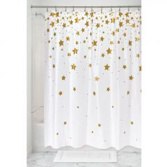 "72"" x 72"" Falling Stars PEVA Shower Curtain"