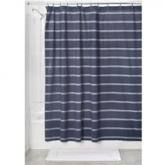 "72"" x 72"" Thin Striped Fabric Shower Curtain"