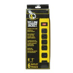 Yellow Jacket 6 Outlet 1.8m Surge Protector