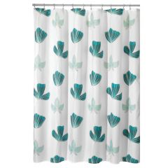 "72"" x 72"" Blue Ava Floral Shower Curtain"