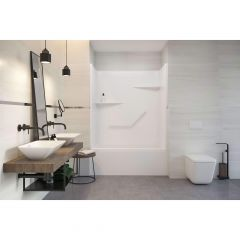 Sutton Two Piece Domeless Tub Shower