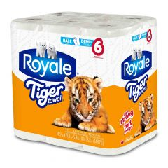 Royale Tiger Towel-6/Pack