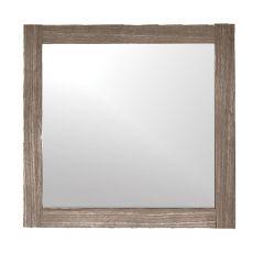 "30-3/4"" x 23-5/8"" Reversible Veined Brown Mirror"