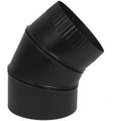 "7"" x 45 Degree Black Matte Adjustable Elbow"