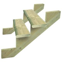 """2 x 10 x 60"""" Green Pressure Treated Bullnose Stairtread"""