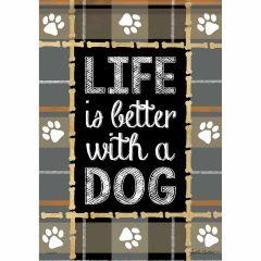 Garden Flag Life Is Better Dog