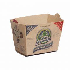 8L Kitchen Bin Liner Beige-6/Pack