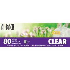 Medium Clear Bags 26 x 32.5 Flex-Tie-80/Pack
