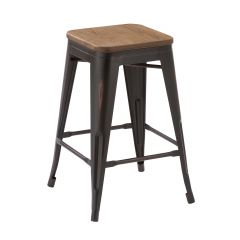 """Antique Brown 24"""" High Counter Stool"""