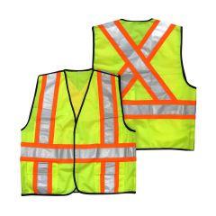 Hi Vizability Green 5 Point Tear Away Traffic Vest