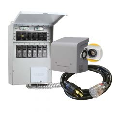Pre-Wired 6-Circuit Transfer Switch For Portable Generator