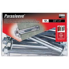 ParaSleeve 3/8-in x 4-in - 12/Pack