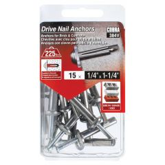 Drive Nail Anchors 1/4-in x 1-1/4-in - 15/Pack