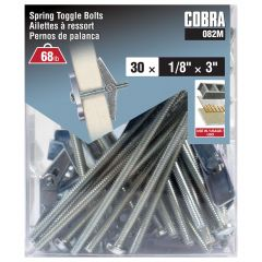 Spring Toggle Bolts 1/8-in x 3-in - 30/Pack
