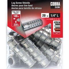 Lag Screw Shields 1/4-in L - 20/Pack