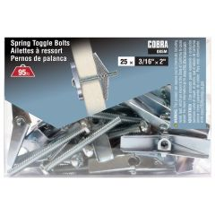 Spring Toggle Bolts 3/16-in x 2-in - 25/Pack