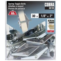 Spring Toggle Bolts 1/8-in x 2-in - 30/Pack