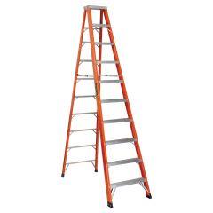 10' Fiberglass Step Ladder Grade 1AA With 375 Lbs Capacity