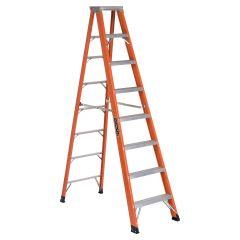 8' Fiberglass Step Ladder Grade 1AA With 375 Lbs Capacity
