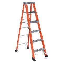 6' Fiberglass Step Ladder Grade 1AA With 375 Lbs Capacity