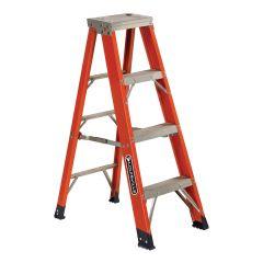 4' Fiberglass Step Ladder Grade 1AA With 375 Lbs Capacity