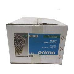 "Prime 15° Framing Coil Nail 3-1/4"" HDG Spiral-2500/Box"