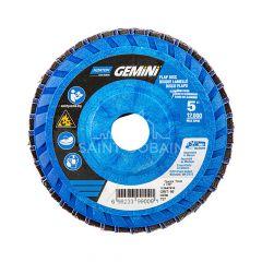 "5 x 7/8"" Neon Plastic Flat Flap Disc T27 60 Grit"