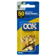 OOK 50lb Professional Picture Brass Finished Hangers