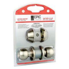 Epic Satin Stainless Steel Entry Ball Knob/Deadbolt Combo