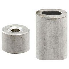 "Ferrules & Stops, 1/16"" Aluminum"