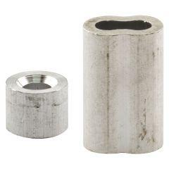 "Ferrules & Stops, 1/4"" Aluminum"